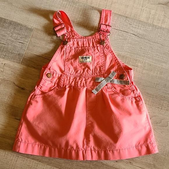 Coral Pink OSHKOSH Overall Dress